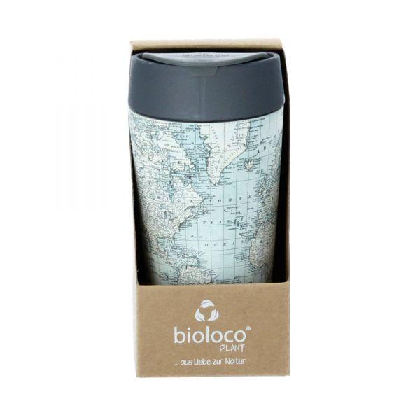 Chic Mic Bioloco Trinkbecher 420 ml PLA antique map Produktbild